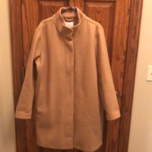 Camel colored swing coat
